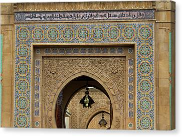 Morocco, Rabat Ornate Gate Of Royal Canvas Print by Kymri Wilt