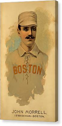 Morrell Vintage Baseball Canvas Print by David Letts