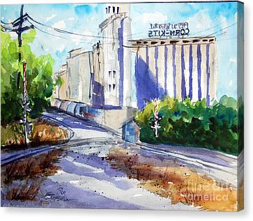 Morrisons Milling Co  Denton Tx Canvas Print by Ron Stephens