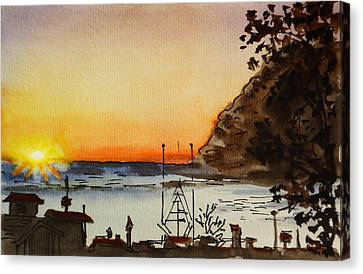 Morro Bay - California Sketchbook Project Canvas Print by Irina Sztukowski