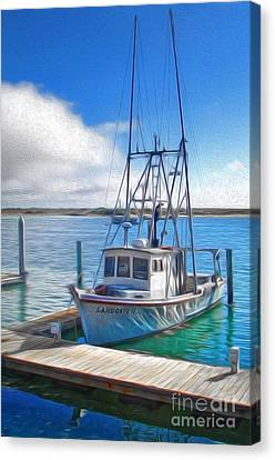 Morro Bay Fishing Boat Canvas Print by Gregory Dyer