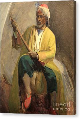 Morrocan Musician 1929 Canvas Print by Art By Tolpo Collection