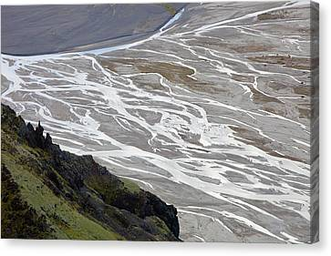 Morsardalur Meltwater River Canvas Print by Ashley Cooper