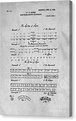 Morse Code Original Patent Canvas Print by Edward Fielding