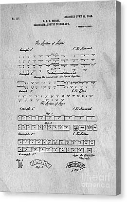 Morse Code Original Patent Canvas Print by Edward Fielding