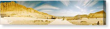Mortuary Temple Of Hatshepsut At Deir Canvas Print by Panoramic Images