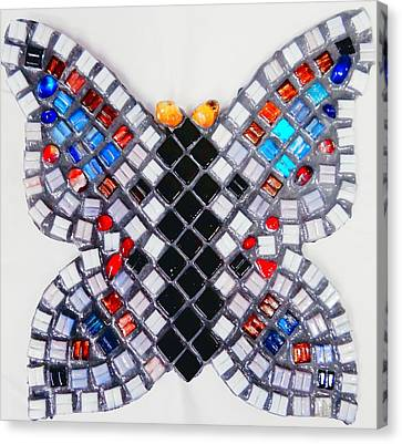 Mosaic Butterfly Canvas Print by Lisa Brandel