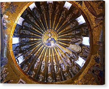 Mosaic Of Christ Pantocrator Canvas Print by Stephen Stookey