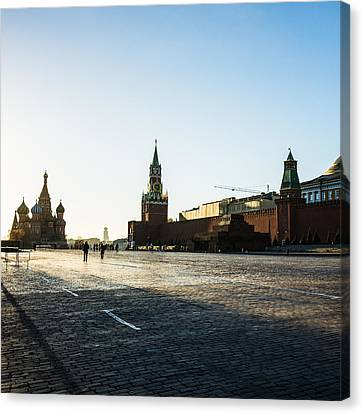 Moscow Red Square From North-west To South-east - Square Canvas Print by Alexander Senin