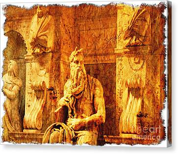 Moses Canvas Print by Stefano Senise