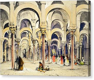 Mosque At Cordoba, From Sketches Canvas Print by John Frederick Lewis