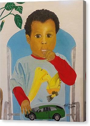 Mossiah My Grandson Canvas Print by Nicole Jean-Louis