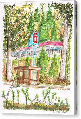 Motel 6 In Mammoth Lakes - California Canvas Print by Carlos G Groppa