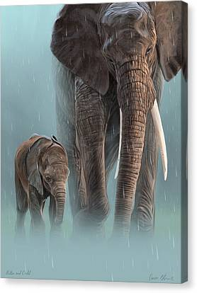 Mother And Child Canvas Print by Aaron Blaise