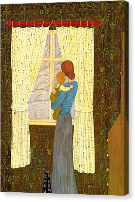 Mother And Child Canvas Print by Ditz