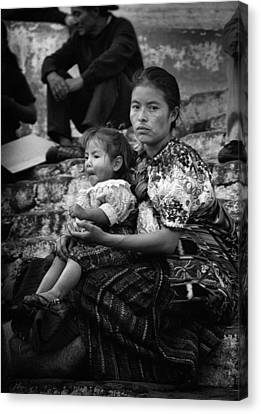 Mother And Child Canvas Print by Tom Bell