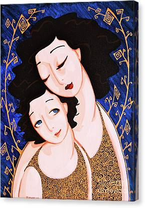 Mother And Daughter Canvas Print by Rebecca Mott