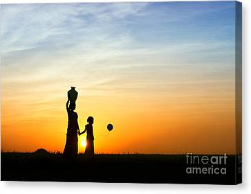 Mother And Daughter Canvas Print by Tim Gainey