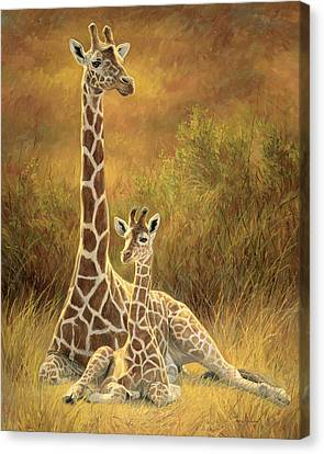 Mother And Son Canvas Print by Lucie Bilodeau