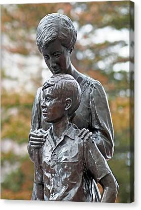 Mother And Son Canvas Print by Rona Black