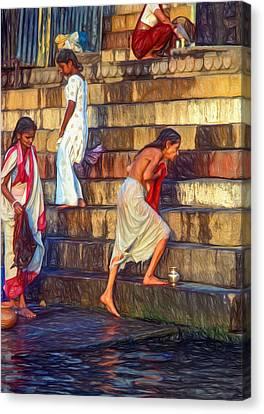 Mother Ganges - Paint Canvas Print by Steve Harrington