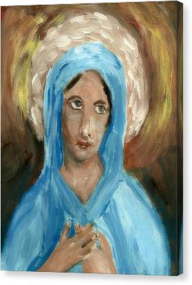 Mother Mary Canvas Print by Peg Holmes