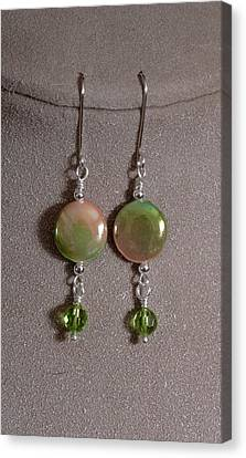 Mother Of Pearl And Peridot Canvas Print by Jan Brieger-Scranton
