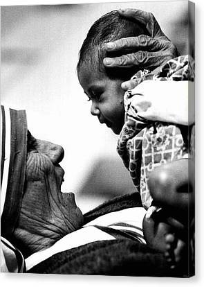 Mother Teresa Holds Baby Canvas Print by Retro Images Archive