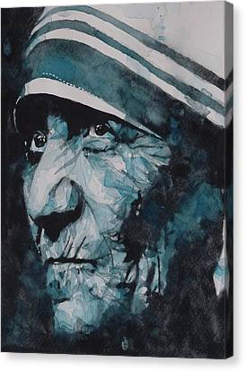 Mother Teresa Canvas Print by Paul Lovering