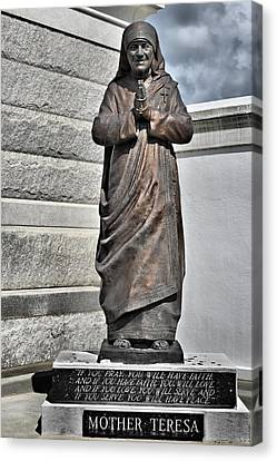 Mother Teresa - St Louis Cemetery No 3 New Orleans Canvas Print by Christine Till