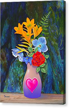 Mothers Day Bouquet Canvas Print by Teresa Ascone