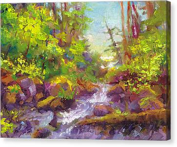 Mother's Day Oasis - Woodland River Canvas Print by Talya Johnson