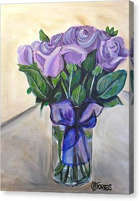 Mother's Day Roses Canvas Print by Melissa Torres