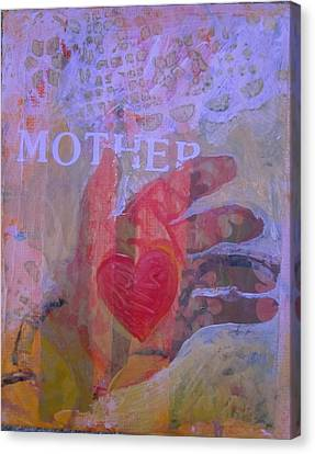 Mother's Heart Canvas Print by Tilly Strauss