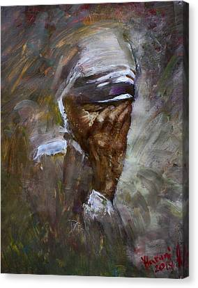 Mother's Pain Canvas Print by Ylli Haruni