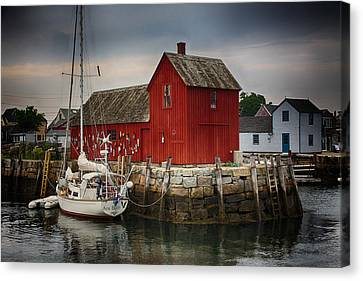 Motif 1 - Rockport Harbor Canvas Print by Stephen Stookey