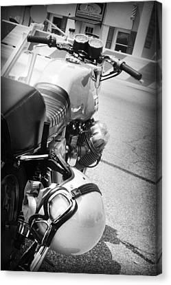 Moto Guzzi Helmet Canvas Print by Kelly Hazel