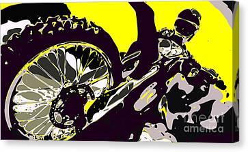 Motocross Canvas Print by Chris Butler
