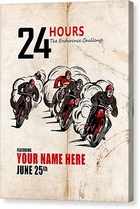 Motorcycle Customized Poster 5 Canvas Print by Mark Rogan