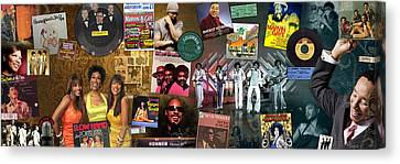 Motown Music Panoramic Canvas Print by Retro Images Archive