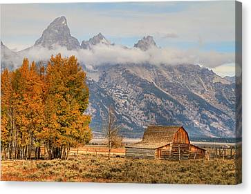 Moulton Barn - Grand Tetons Canvas Print by Donna Kennedy