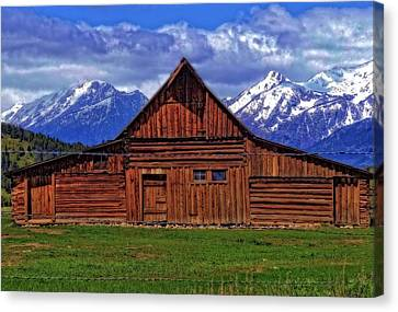 Moulton Barn In Spring Canvas Print by Dan Sproul