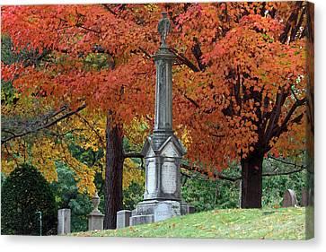 Mount Auburn Cemetery Canvas Print by Juergen Roth