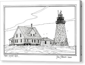 Mount Desert Rock Lighthouse Canvas Print by Ira Shander