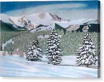 Mount Evans Winter Canvas Print by Dan Miller