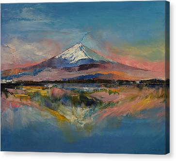 Mount Fuji Canvas Print by Michael Creese