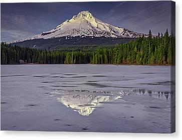 Mount Hood Reflections Canvas Print by Rick Berk