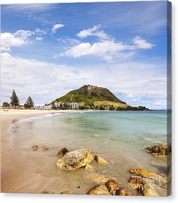 Mount Maunganui Bay Of Plenty New Zealand Canvas Print by Colin and Linda McKie