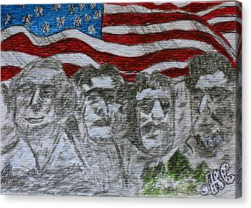 Mount Rushmore Canvas Print by Kathy Marrs Chandler