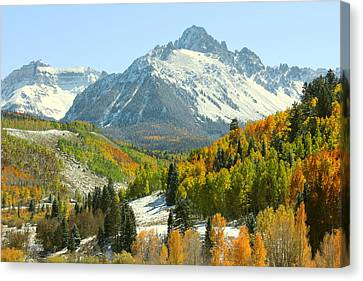 Mount Sneffels In Ridgway Colorado Canvas Print by Brett Pfister